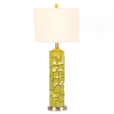 Lime Green Retro Ceramic Table Lamp