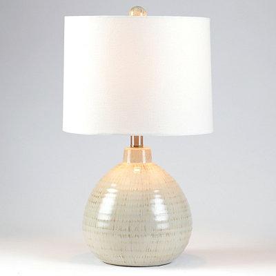 Gray Ceramic Pot Table Lamp