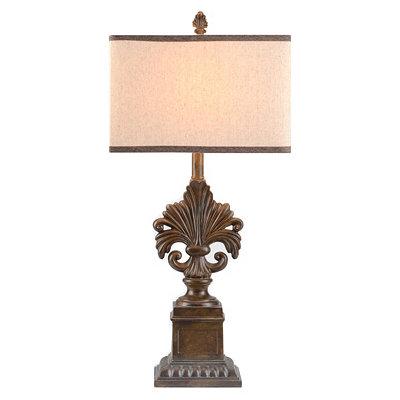Bronze Ornate Fleur-de-Lis Table Lamp