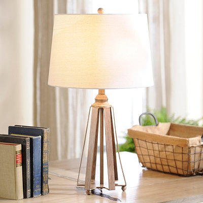 Antique Washed Table Lamp