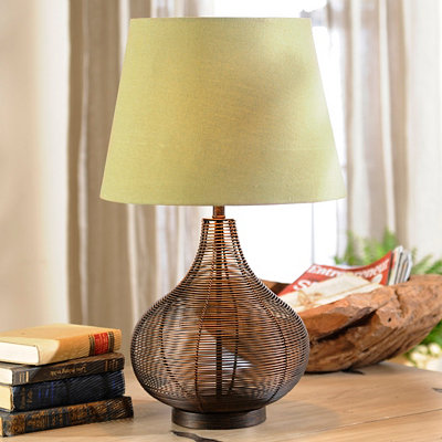 Large Bronze Wire Table Lamp
