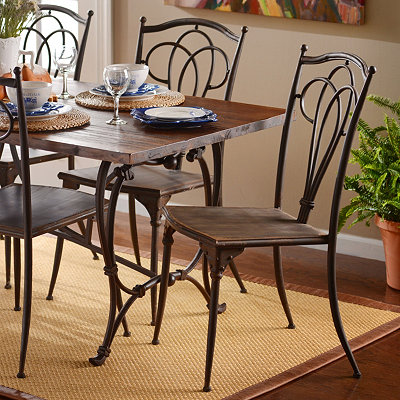 Antique Brown Metal Dining Chair