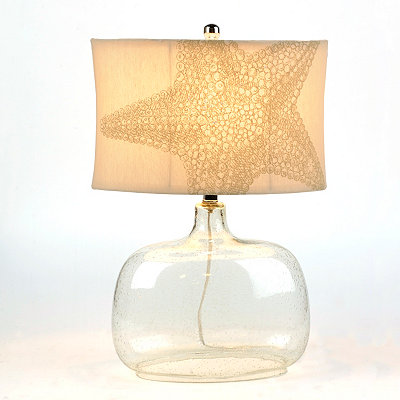 Seeded Glass Starfish Table Lamp