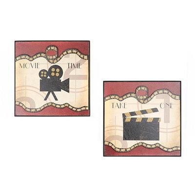 Media Elements I Wall Plaque, Set of 2